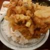 丸亀製麺の天丼ごはんとかき揚げのドアップ