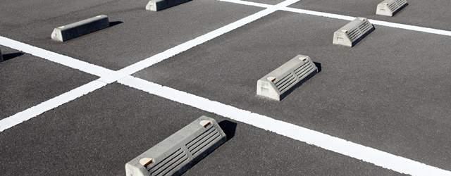 駐車場の地面のアップ