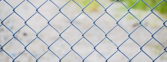 格子のフェンスのアップ