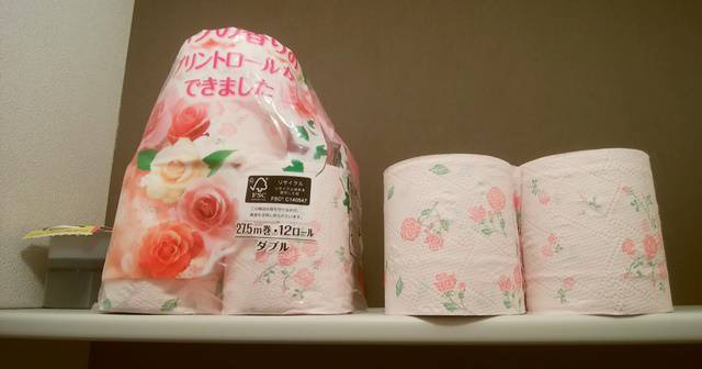 ウエルシアに売ってる「華やかなバラの香りのプリントロール」トイレットペーパー