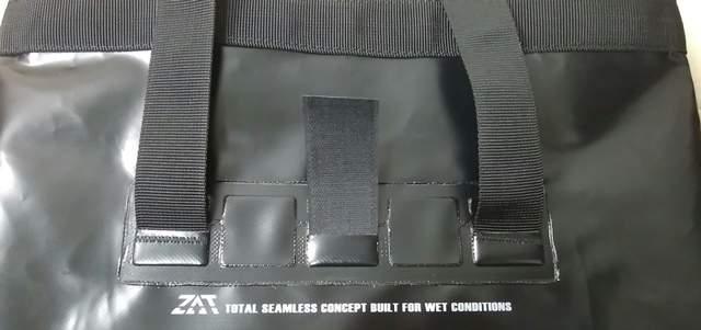 ZAT無縫製防水トートバッグの持ち手のつなぎ目の部分