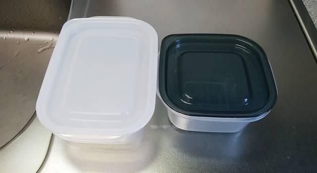 とにかく洗いやすい保存容器の2種類のタイプが並んでいる